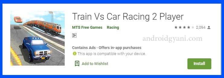 Train vs Gadi wala game